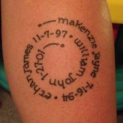 Tatuagem em homenagem aos filhos