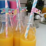 Para os pequenos: garrafinhas (de plástico!) para tomarem suco