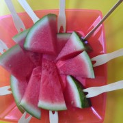 ideia refrescante: melancia no plaito