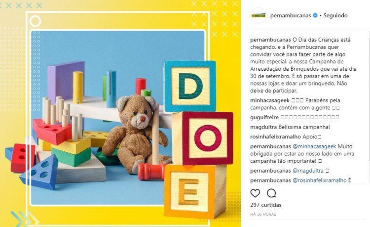 pernambucanas_arrecadacao brinquedos