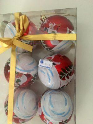 Pack de bola de Natal com pintura