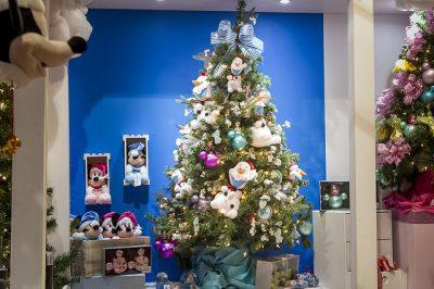 Árvore de Natal inspirada nos personagens da Disney! Foto: divulgação Feira Natal Show 2017