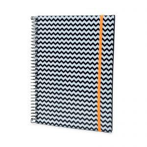 caderno chevron