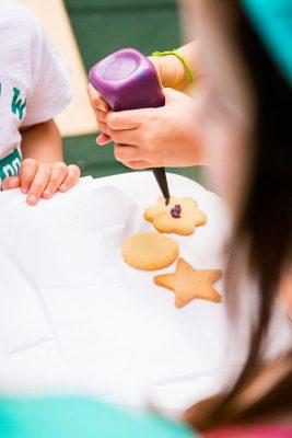 oficina de biscoitos para crianças